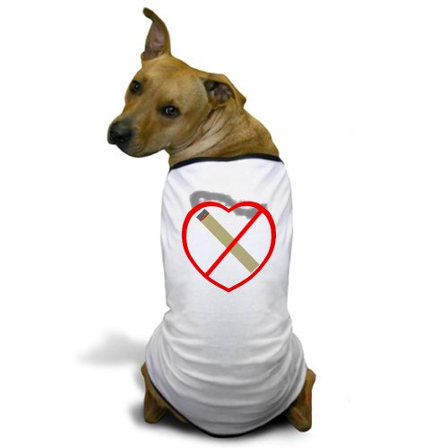 CafePress Stop Smoking Dog T-Shirt – L White [Misc.]