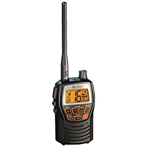 Cobra MR HH125 Compact Waterproof Marine Handheld VHF Radio with 1 or 3 Watts, All Weather Channels, and Weather Alert (Black)