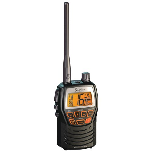 Cobra Mrhh125 Compact Waterproof Marine Handheld Vhf Radio With 1 Or 3 Watts (Black)