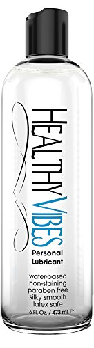 Water Based Intimate Personal Lubricant and Moisturizer by Healthy Vibes - Paraben Free (16 oz)