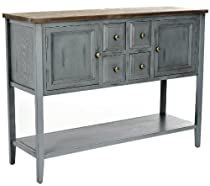 Big Sale Safavieh American Home Collection Howden Distressed Light Blue Sideboard