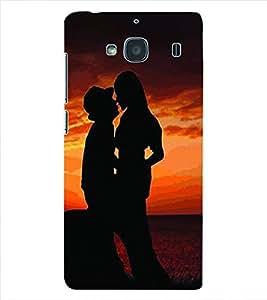 ColourCraft Valentine Love Couple Back Case Cover for XIAOMI REDMI 2S