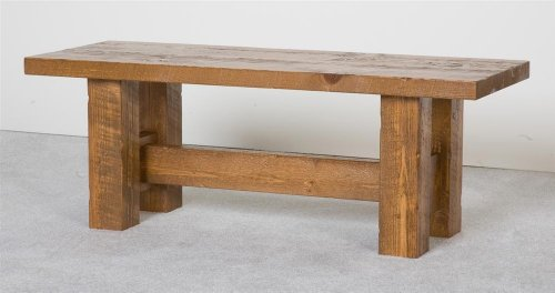 Barnwood 48 in. Bench (Honey Pine Barnwood)
