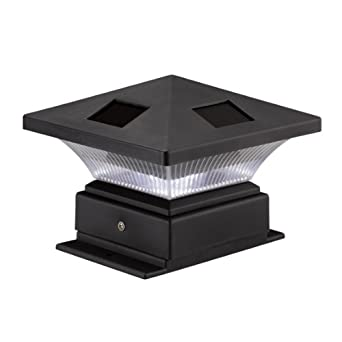 pagoda ii black solar 4x4 post cap led light. Black Bedroom Furniture Sets. Home Design Ideas
