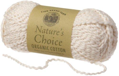 Lion Brand Yarn 480-098H Nature's Choice Organic Cotton Yarn, Almond