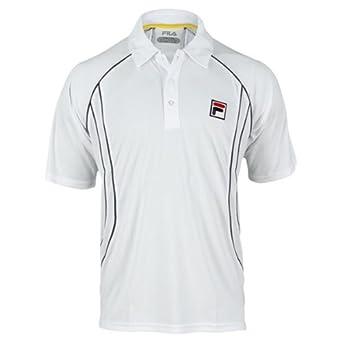 Buy Fila Mens Tour Piped Polo Tennis Comfort Shirts by Fila