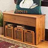 Small Shaker Storage Bench Cherry Stain Small 20.5