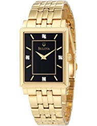 Bulova Men's 97D103 Diamond Classic Goldtone Watch