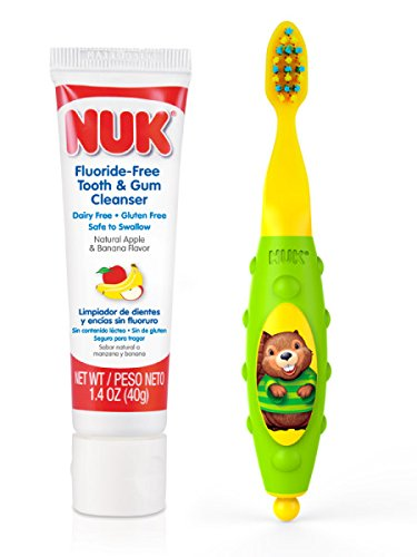 NUK Toddler Tooth and Gum Cleanser, 1.4 Ounce, (Colors May Vary)