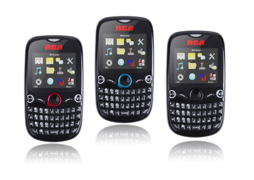 RCA T1 Unlocked Dual Sim Card Phone with QWERTY Keyboard, Bluetooth, GPRS, Camera, FM Radio ,MP3 &MP4 Player for T-Mobile and AT&T No Contract