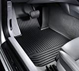 BMW All Weather Rear Rubber Floor Mats 128i & 135i Convertible (2008 onwards) - Black