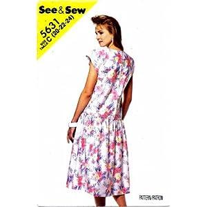 New look drop waist dress pattern 6496