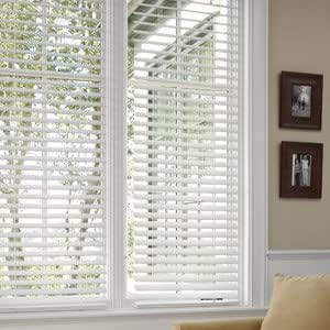 """Better Homes and Gardens 2"""" Faux Wood Blinds, White, 30 X 64"""