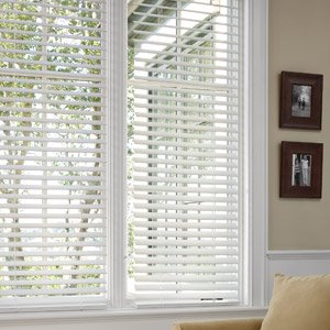 better homes and gardens 2 faux wood blinds white 29 x 64 home kitchen