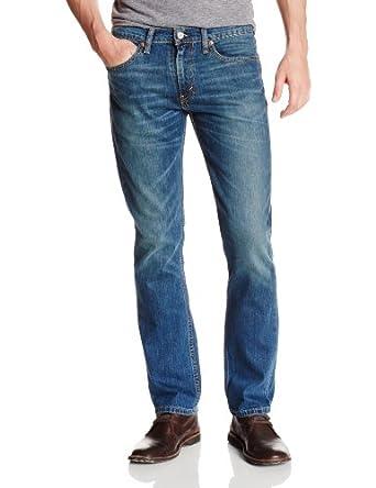 Levis - Jean - Homme - 511 Slim Fit Stretch Throttle Blue - Bleu Moyen Delavé - W30 L32