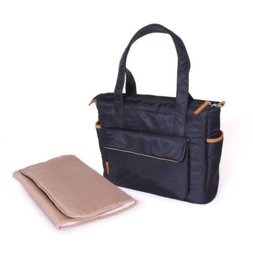 Natineo - Sac à langer style cabas - Bleu marine - Disponible en bleu marine et noir