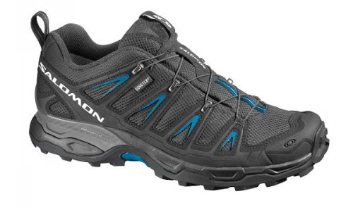 SALOMON X Ultra GTX Men's Hiking Shoes, Black/Blue, UK10.5