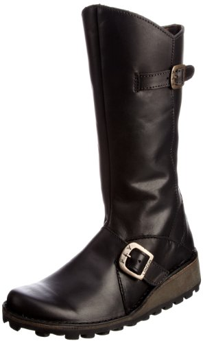 Fly London Youth Messy K Leather Black Classic Boot P210504907 5 UK