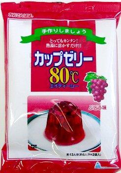 かんてんぱぱ カップゼリー80℃ぶどう味 500g