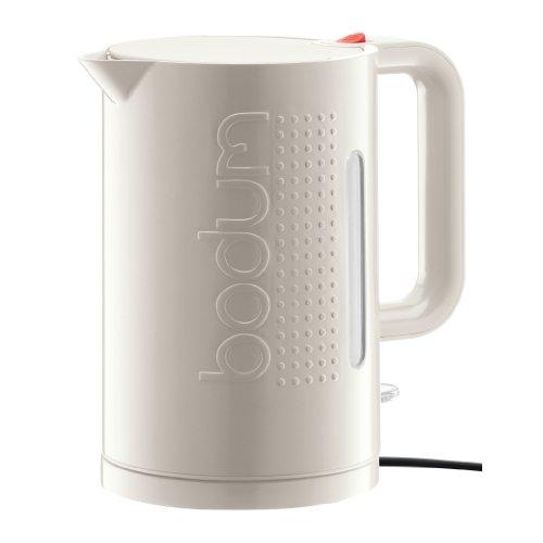 Bodum Bistro 11138, Bollitore elettrico, 1,5 L, colore: Bianco crema
