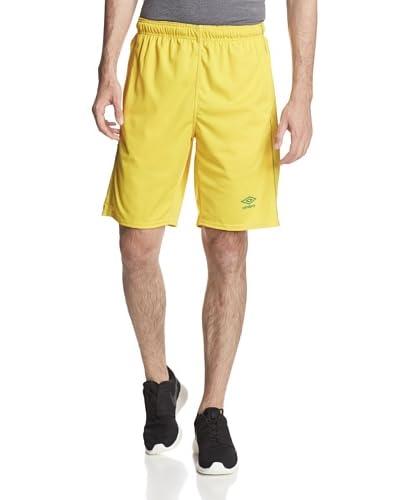 Umbro Men's Knit Active Short with Contrast Overlook