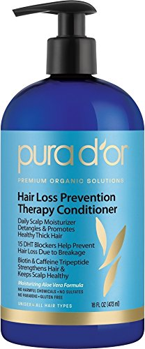 PURA D'OR Hair Loss Prevention Therapy Conditioner, 16 Fluid Ounce (Pur Dor Shampoo compare prices)