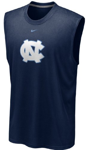 Nike UNC Tarheels Dri-FIT Sleeveless Logo Legend T Shirt (L=44)