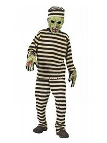 Fun World Kids Zombie Convict Costume Scary Prisoner with Mask