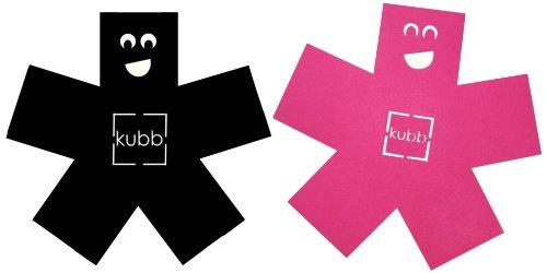 Kubb K014 Pack 2 Feutrines Forme de Bonhomme pour Poêles et Casseroles Noir/Fuchsia