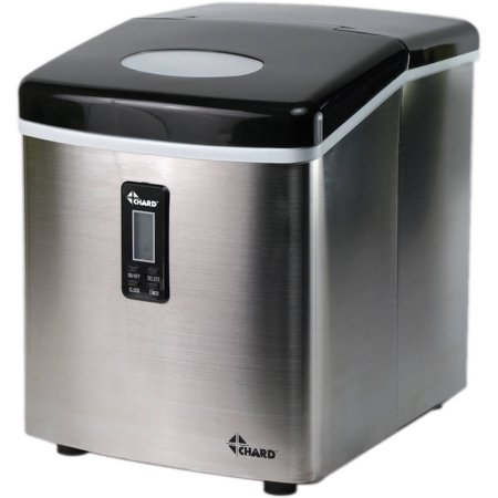 Chard Paltry Ice Maker | Dishwasher Safe for Easy Clean up - Silver