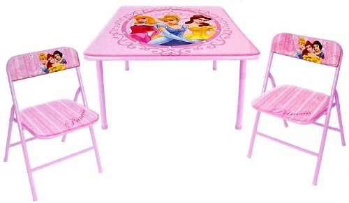 Disney Princess Folding Table And 2 Folding Chairs