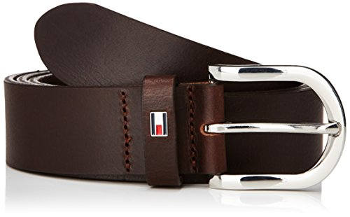 Tommy Hilfiger - DANNY BELT, Cintura da donna, Dark Brown, 85 cm