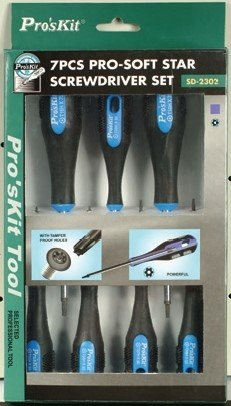 Eclipse 902-097 7-Piece Security Torx Screwdriver Set