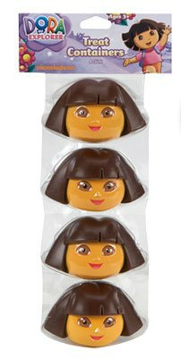Dora The Explorer Easter Egg Candy Treat Containers - Set of 4 - 1