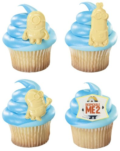 Despicable Me 2 Minion Cupcake Rings - 12 Ct