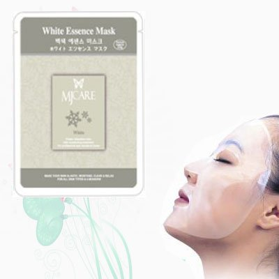 Natural Beauty White / Brightening Essence Full Face Mask 10 Pcs