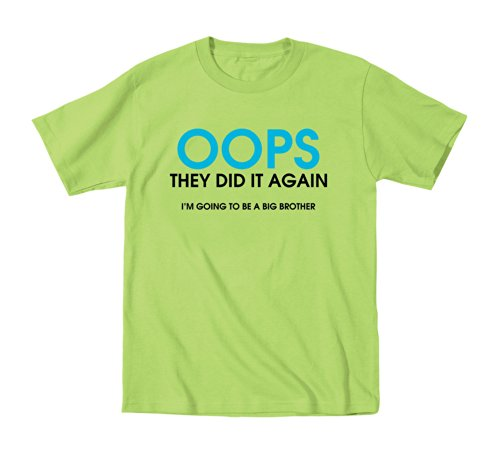 Oops They Did It Again Funny Big Brother Maternity - Juvy T-Shirt - Key Lime - 7J
