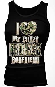 I Love My Crazy Redneck Boyfriend Ladies Junior Fit Tank Top