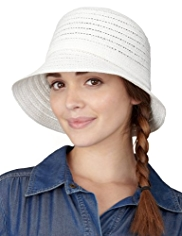 Small Brim Weave Braid Hat