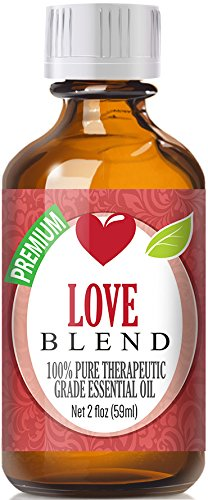 Love Blend 100% Pure, Best Therapeutic Grade Essential Oil - 60ml / 2 (oz) Ounces - Clary Sage, Patchouli, Geranium, Rose Bulgarian, Sweet Orange, Ylang Ylang