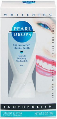 Pearl Drops Whitening Flouride Anticavity Tooth Polish, Packaing May Vary, 3-Ounce Tubes (Pack of 6)