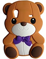 SKS Distribution® brun Silicone mignon Ours Bow Bear Etui Coque Housse Pour Samsung Galaxy Ace S5830