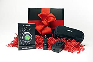 Garmin Approach S6 HOLIDAY GIFT BOX (+$50 REBATE) | Golf GPS Watch, Case, Wall & Car Charge Adapters (Light)