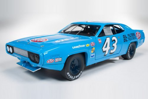 plymouth-road-runner-hardtop-no43-stp-blue-1972-model-car-ready-made-ertl-american-muscle-118-by-aut