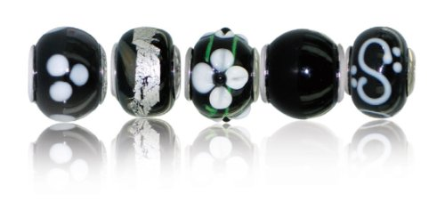 Chrysalis 925 Sterling Silver Orchid 5 Bead Box Set