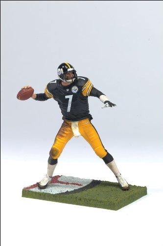 McFarlane Toys NFL 3 Inch Sports Picks Series 4 Mini Action Figure Ben Roethlisberger (Pittsburgh Steelers)