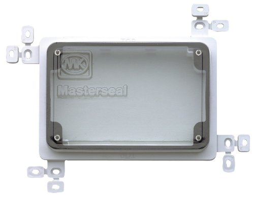 MK Masterseal Plus K56501WHI 2-Gang Plaster/Tile Flush Mounting Frame with Protective Cover