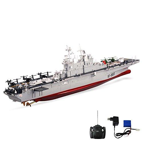 24GHz-RC-ferngesteuertes-Militr-Kriegsschiff-USS-Wasp-LHD-1-US-Navy-Amphibious-Assault-Truppentransporter-Flugzeugtrger-Schlacht-Schiff-Komplett-Set-inkl-Fernsteuerung-Akku-und-Ladegert