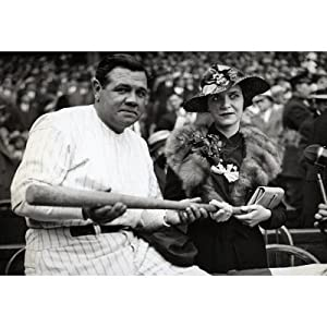 Babe Ruth and Wife Claire Archival Photo Sports Poster Print