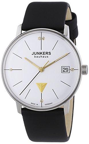 Junkers  Bauhaus - Reloj de cuarzo para mujer, con correa de cuero, color negro
